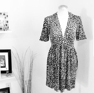 Milly of New York black & white Knit Dress